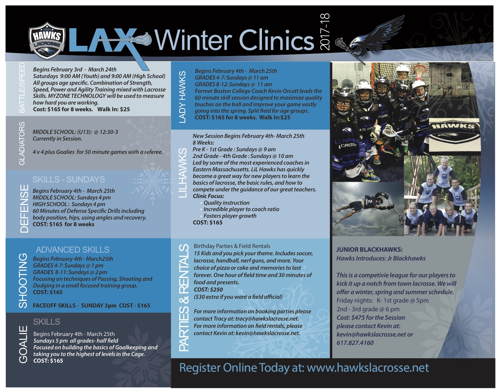 HAWKS NEW WINTER CLINICS BEGIN 2/3